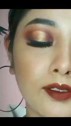 Brown Eyeshadow, Makeup For Brown Eyes, Eyeshadow Looks, Eye Makeup, Hair Makeup, Colorful Eyeshadow, Make Up, Videos, Brown Eyes Makeup