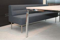 Escape eettafelbank Facet Antraciet - Designsales.nl