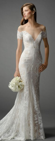 Watters & Watters Bridal Light Nude/Ivory/Bare Lace/Tulle/Stretch Silk Lining Mila Feminine Wedding Dress Size 4 (S) Image 7 Wedding Dresses For Girls, Wedding Dress Sizes, Bridal Dresses, Girls Dresses, Party Dresses, Ugly Wedding Dress, Fitted Lace Wedding Dress, Dresses Dresses, Wedding Dress Separates