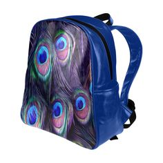 Peacock Feather Multi-Pockets Backpack. FREE Shipping. FREE Returns. #lbackpacks #peacock