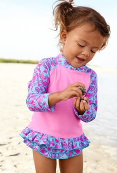 Top Swimsuits for Baby Girls, Summer 2012: Rash Guard Tops from L.L. Bean