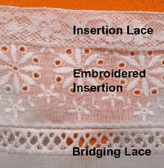 lace insertion how to.
