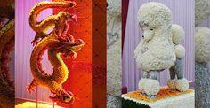 Preston Bailey does some amazing floral sculptures! PrestonBaileyDesign.com