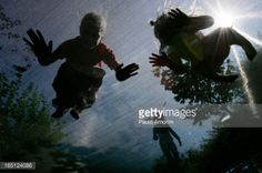 Children play on trampoline in Gierle small city in Belgium... #gierle: Children play on trampoline in Gierle small city in… #gierle