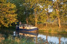 Barge at Our Mooring Spot on the Canal du Midi in Colombiers, France Canal Barge, Canal Boat, Canal Du Midi, Boating Holidays, Ways To Travel, Cruise, Travel Photography, France, World