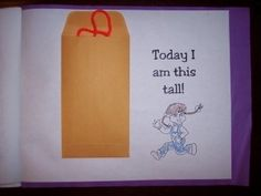 Height - Measure the students and have them take home the string as a memory of their height on that day in Kindergarten! Preschool Memory Book, All About Me Preschool Theme, Preschool Journals, All About Me Activities, Preschool Classroom, Preschool Printables, Preschool Ideas, Classroom Ideas, Class Activities