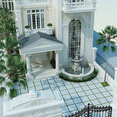 Phong cách kiến trúc sang trọng đẳng cấp vẻ đẹp tân cổ điển đọc đáo với những gam màu trầm cổ điển mang lại một không gian hoàn toàn mới