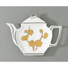 Raynaud Ombrages Yellow Tea Bag Holder