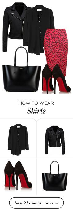 """Red leopard print skirt!"" by styleiconscloset on Polyvore"