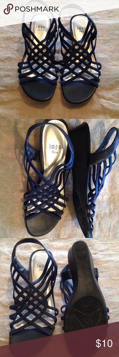 a00845c6c7a4 Impo flex blue Sandles size 11M. Impo flex navy blue small wedge Sandle  size 11M. impo flex Shoes Sandals