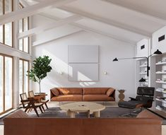 Mid century modern meets minimalism in three stylish home interiors. Neutral color schemes with white walls, wooden floors, and brown, cream and white decor. Mid Century Interior Design, Mid-century Interior, Mid Century Design, Modern Interior Design, Modern Interiors, Mid Century Modern Living Room, Mid Century Modern Decor, Modern Room, Midcentury Modern