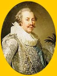 This is tagged as the Duc de Brissac, Jeanne's later lover, but what he's doing in full Elizabethan dress (though with delicate 18th century colors!) and with a mustache is beyond me. It's possibly related to his regimental dress, as other portraits of him show him with a neck ruff.