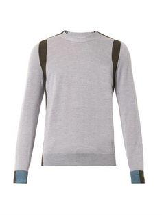 Colour block crew-neck sweater | Maison Martin Margiela | MATC...