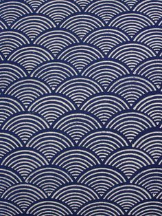 Pacific Blue ~ Blue and White Fabric Swatch with Wave Print Blue and white fabric swatch, with elegantly printed waves patterned rhythmically against an indigo background Blue And White Fabric, White Fabrics, Blue Fabric, Surface Pattern Design, Pattern Art, Wave Pattern, Pattern Fabric, Textile Patterns, Print Patterns