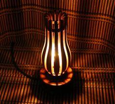 Retro oil lamp reproduction Wood and light sculpture Lighting decor Functional art Retro decor Edison style Brand new Romantic gift