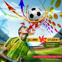 Its the Clash of the Titans for a cause. For the first time in the history of The Sanskaar Valley School, the alumni and the school will get together for a friendly Football Match where the Alumni will battle it out with the School Football team. The organizing committee that comprises the TSVS Student Council is enthused to bring together the past and the present to raise money for charity. #TSVS #PranganStudents #SopaanStudents #ShikharStudents #football #footballmatch School Football, Football Match, Football Team, Clash Of The Titans, The Clash, Organizing Committee, Student Council, How To Raise Money, Soccer Ball