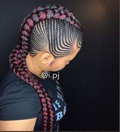 Cool Braid Hairstyles, African Braids Hairstyles, Black Girls Hairstyles, Hairstyles 2018, Beautiful Hairstyles, Latest Hairstyles, Summer Hairstyles, Black Girl Braids, Girls Braids