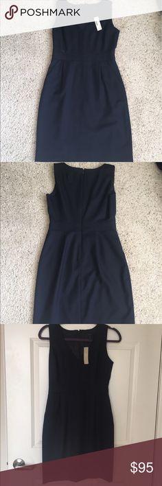NWT J. Crew Shift Dress Size P2 Navy New J. Crew Dresses