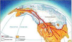 Map of Land Bridge Migration Theory