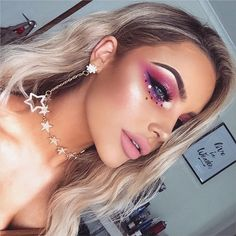 She was just another girl. Playing hopscotch with the stars ✨ This stunning jewellery is from @fawnstar_ Using the new @shopvioletvoss Highlighter Trio Palette #shipvioletvoss #violetvoss #fawnstar