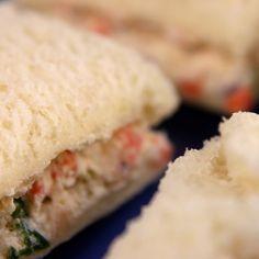 Cream Cheese Finger Sandwiches Recipe - Vegetable Cream Cheese Tea Sandwiches Recipe