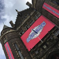 When your #edfringe venue is like a castle but filled with comedians and streamers and balloons. Welcome to #Edinburgh!