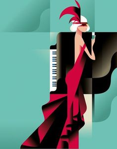 Mads Berg's illustrations are characterized by a style which translates classic poster art to a modern and timeless look. Art Vintage, Retro Art, Vintage Posters, Pop Art, Art Deco Illustration, Art Deco Posters, Art Graphique, Art Deco Design, Art Deco Fashion