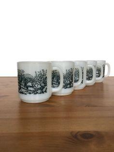 Glasbake coffee cups vintage heat resistant by Generations789