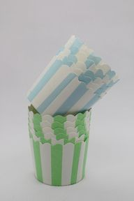 100 Green and Baby Blue Greaseproof Paper Baking Cups Cake Cups Cupcake Cups Ice Cream Cups Treat Dessert Portion Cups Muffin Paper Cups, $14.5