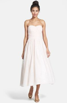 ML Monique Lhuillier Bridesmaids Monique Lhuillier Bridesmaids Tulle Tea-Length Dress available at #Nordstrom