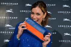 November 26, 2015 - Jana Ina Zarrella at the Longchamp new flagship store opening in #Cologne.