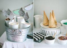 Ice Cream Social 1st Birthday for Alder   100 Layer Cakelet
