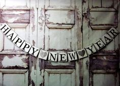 New Years Eve Signs-New Years banners-Rustic - 2016 new year ideas, new years, new years eve
