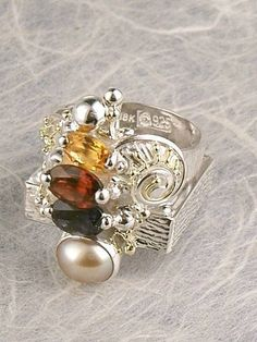 RT or Repin this Now Gregory Pyra Piro #Sterling #Silver and #Gold #Ring 4892