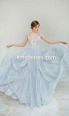 http://www.ikmdresses.com/Silver-grey-wedding-dress-chiffon-prom-dresses-V-back-prom-dresses-2016-p91466