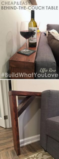 DIY Behind The Couch Table.