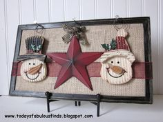 Today's Fabulous Finds: One Frame For Every Season.  Just change the ribbon and ornaments for the season.