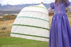 How to make a HOOP SKIRT...a non-wobbly, lightweight, and inexpensive version. Perfect for puffing out long dresses and skirts! | via Make It and Love It