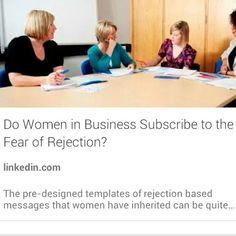 Do #Women  in #business subscribe to fear? Read more >> https://www.linkedin.com/pulse/do-women-business-subscribe-fear-rejection-carol-sankar  #motivation #ThinkBetter #Success #tedxspeaker #tedx #10XRule #10x #money #leadership #entrepreneurmagazine #sharktank #wealth #ceo #revenue #blog #article