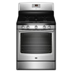 Shop Maytag 30-in 5-Burner Freestanding 5.8 cu ft Gas Range (Stainless Steel) at Lowes.com