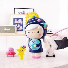 """WONDER, HOPPER, MOON & ZOOM by Momiji Every year Momiji release a BIG IDEAS doll. Limited Edition 750 pieces. """"We truly are children of the stars"""""""