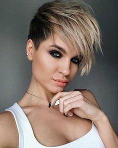 Schöne geschichtete kurze Haarschnitte für Damen