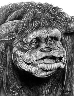 Ludo (Labyrinth) by on DeviantArt Ludo Labyrinth, David Bowie Labyrinth, Labyrinth 1986, Labyrinth Movie, Pencil Sketch Images, Prince Tattoos, Black And White Photo Wall, Labrynth, Brian Froud