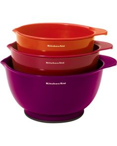 These colorful nesting bowls are great for mixing! Get them here: http://www.bhg.com/shop/kitchenaid-kitchenaid-3-piece-plastic-mixing-bowl-set-assorted-color-p5242de37e4b01e40e15d2817.html