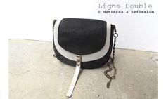Piccolo2 Double (Noir/Blanc) #matieresareflexion #upcycled #leather #minisac #minibag #blackandwhite #noiretblanc