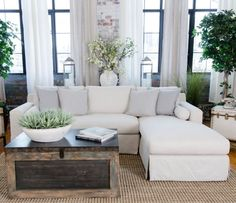 Elements Fine Home Haley Fabric Sectional - Sectional Sofas at Hayneedle