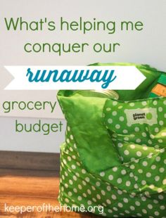 What's helping me conquer our runaway grocery budget? #budget #grocery #spending. -- pin now read later