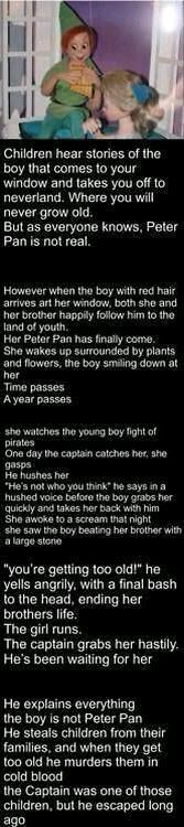 Peter Pan, child killer