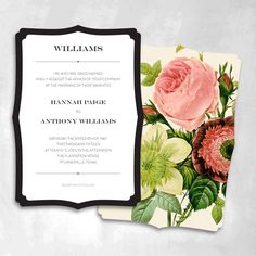 Smitten on Paper: Plantation Floral Wedding Invitations, Set of 25