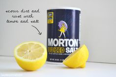 DIY green cleaning: scour dirt and rust with lemon and salt